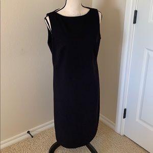 SIZE 8 Liz Claiborne Black Sheath Dress